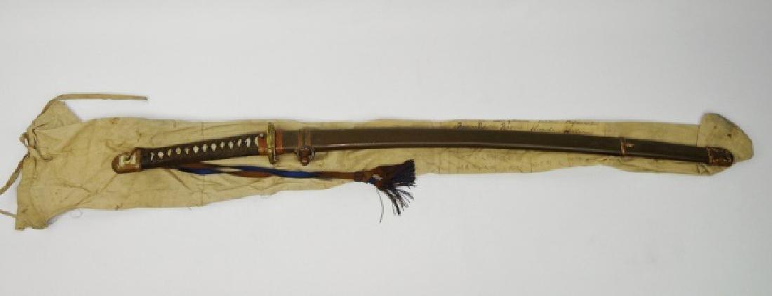 WW2 Japanese Gendaito Samurai Sword, Signed Tang