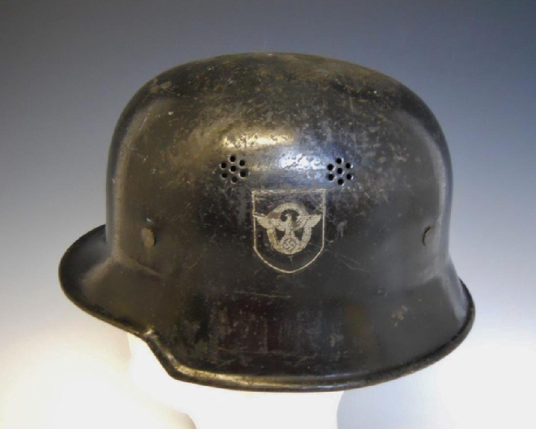 WW2 German Police Double Decal Civic Helmet - 2