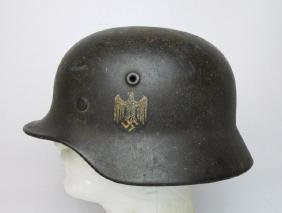WW2 German M1940 Heer Single Decal Combat Helmet