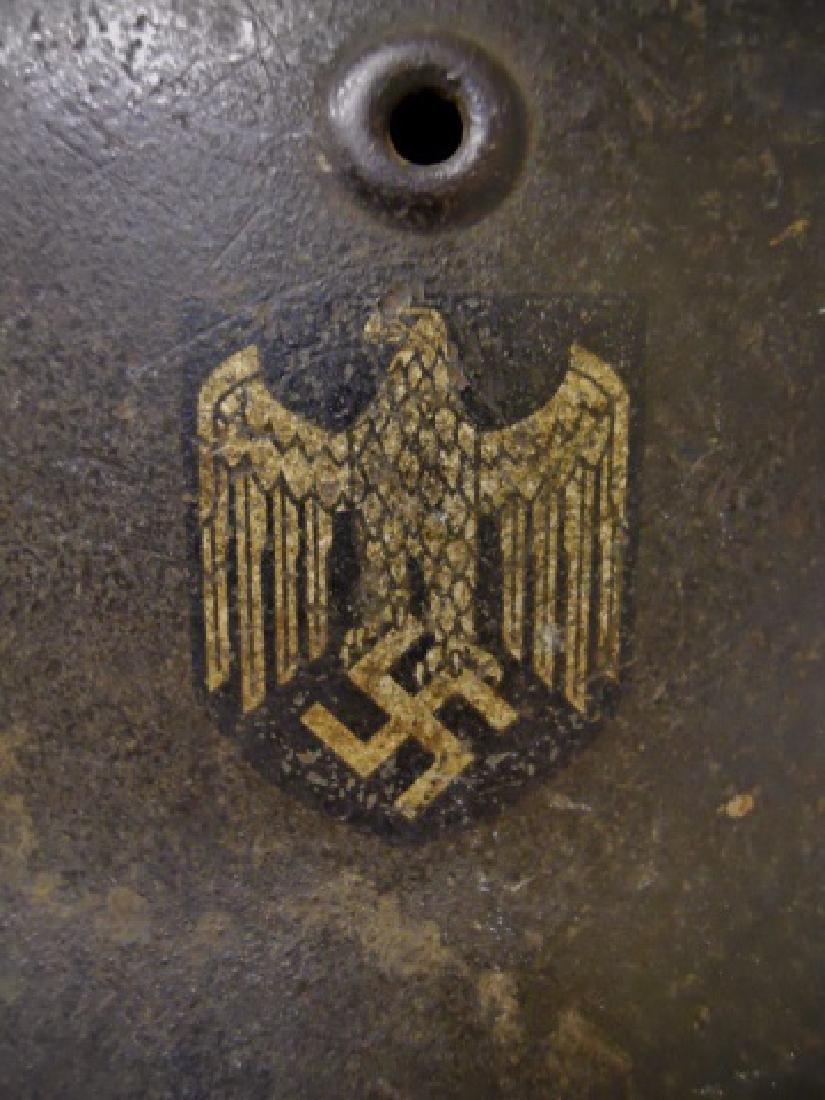 WW2 German M1940 Heer Single Decal Combat Helmet - 2
