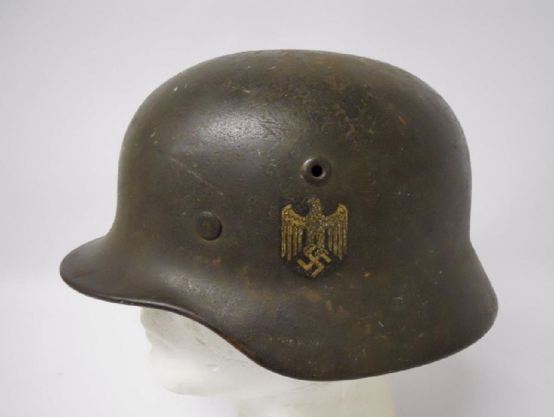 WW2 German M1940 Heer Single Decal Combat Helmet - 3