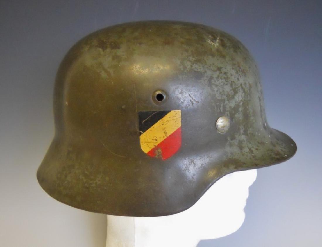 WW2 German M1935 Heer Double Decal Combat Helmet