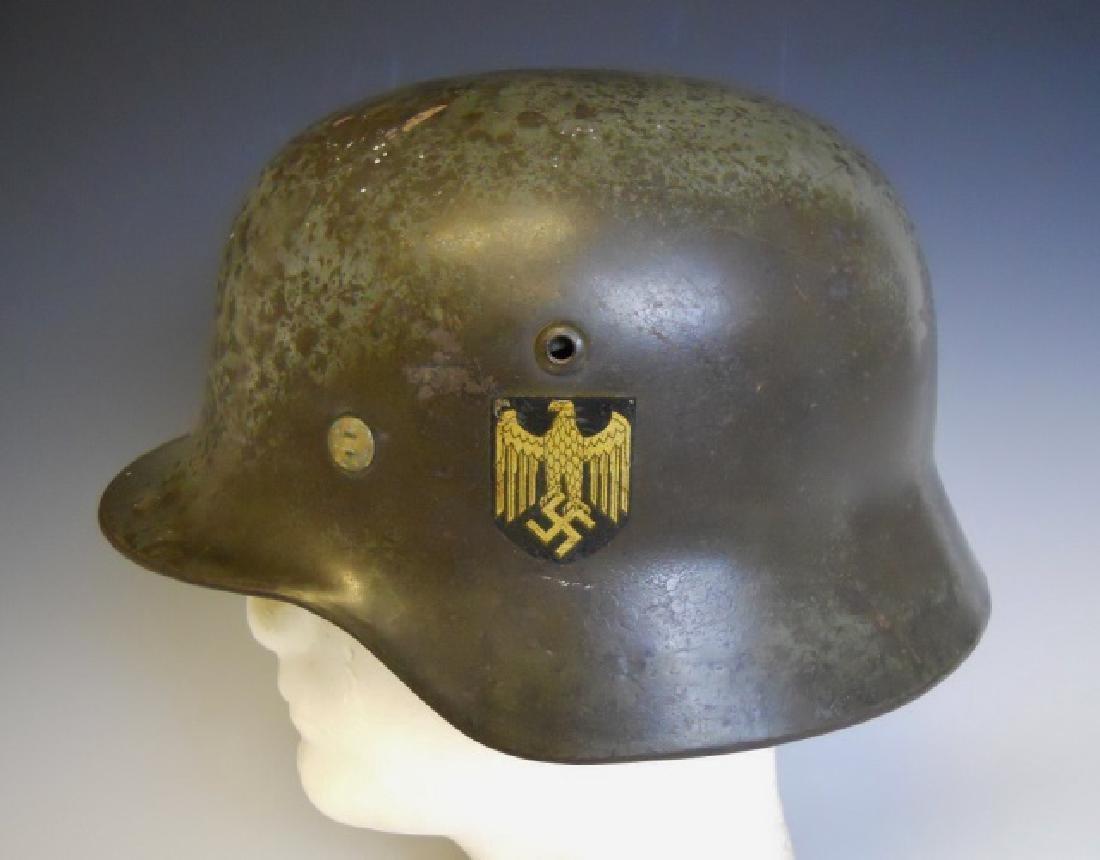 WW2 German M1935 Heer Double Decal Combat Helmet - 2
