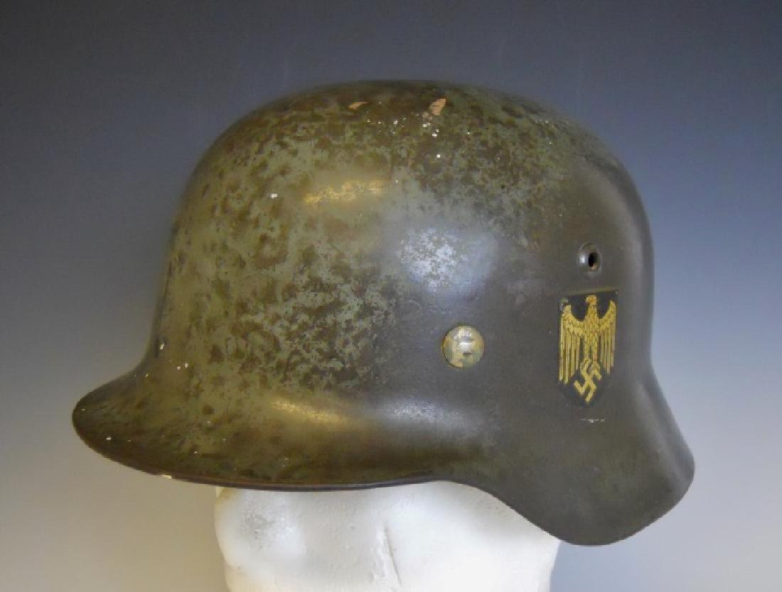 WW2 German M1935 Heer Double Decal Combat Helmet - 3