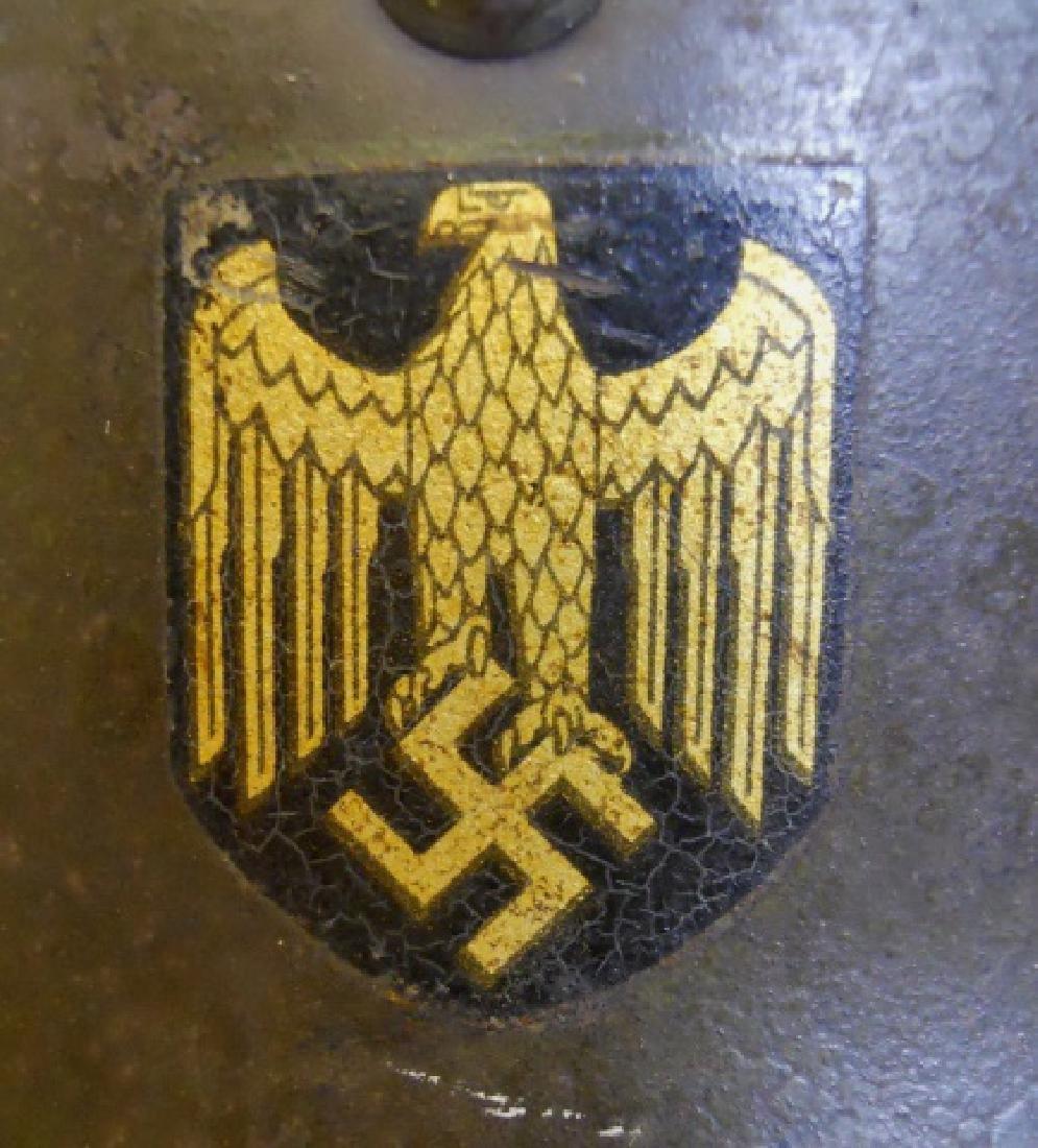 WW2 German M1935 Heer Double Decal Combat Helmet - 5
