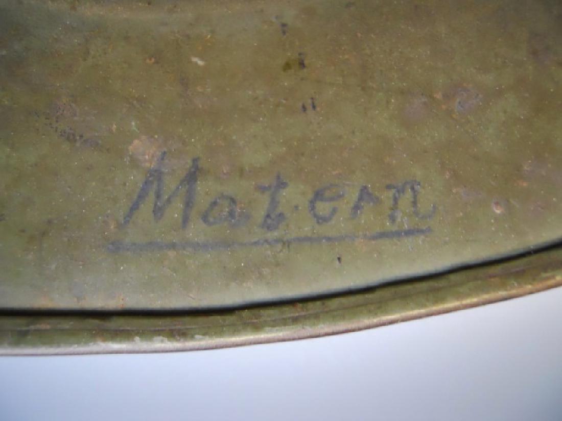 WW2 German M1935 Heer Double Decal Combat Helmet - 9