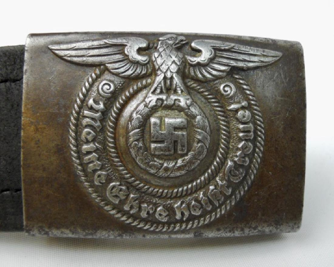 WW2 German SS Combat Belt and Buckle - 2