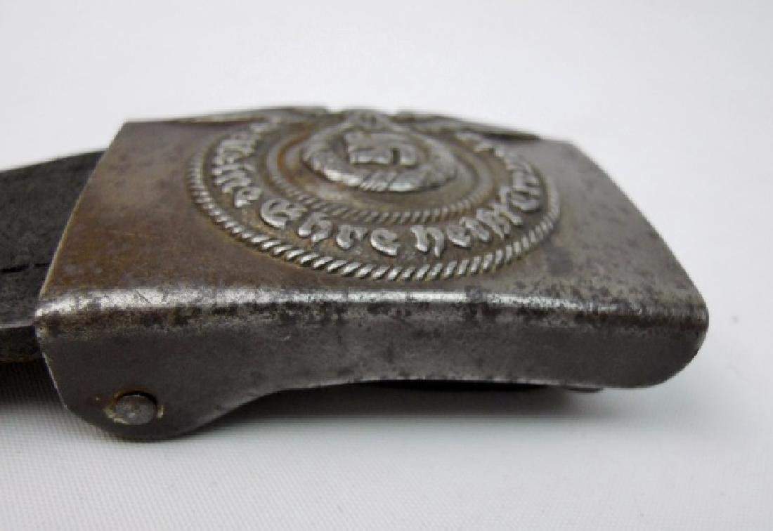 WW2 German SS Combat Belt and Buckle - 4