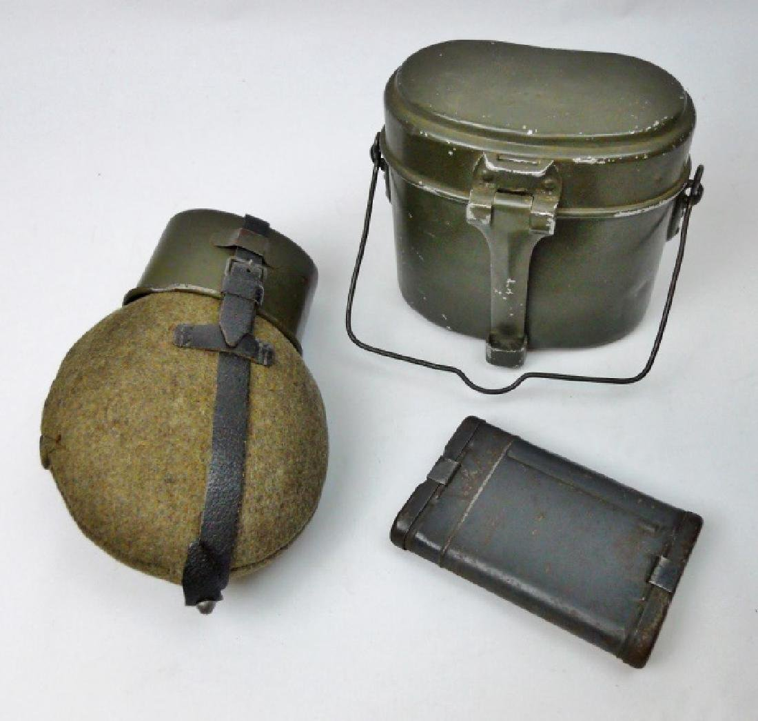 Collection of WW2 German Field Gear, (3pc)