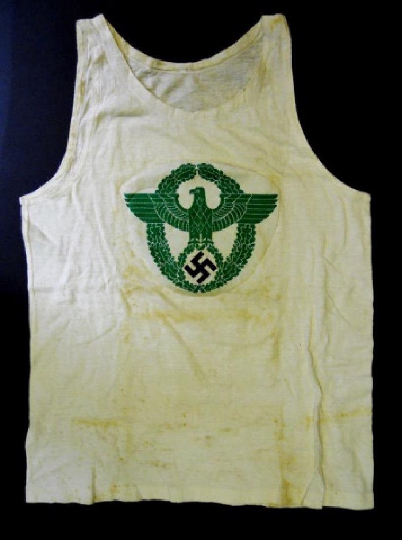 WW2 German Police Athletic Shirt with Insignia
