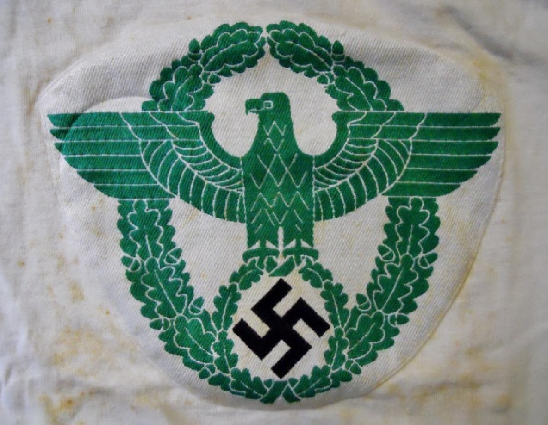WW2 German Police Athletic Shirt with Insignia - 2