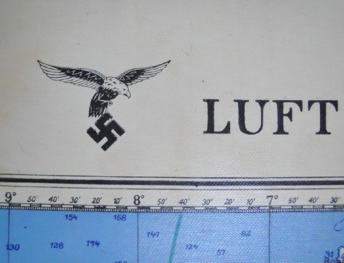 WW2 German Luftwaffe Two Sided Navigation Map,1941 - 3