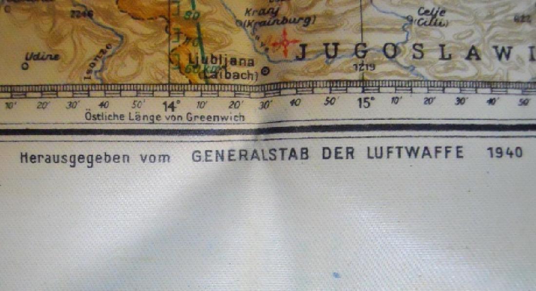 WW2 German Luftwaffe Two Sided Navigation Map,1941 - 8