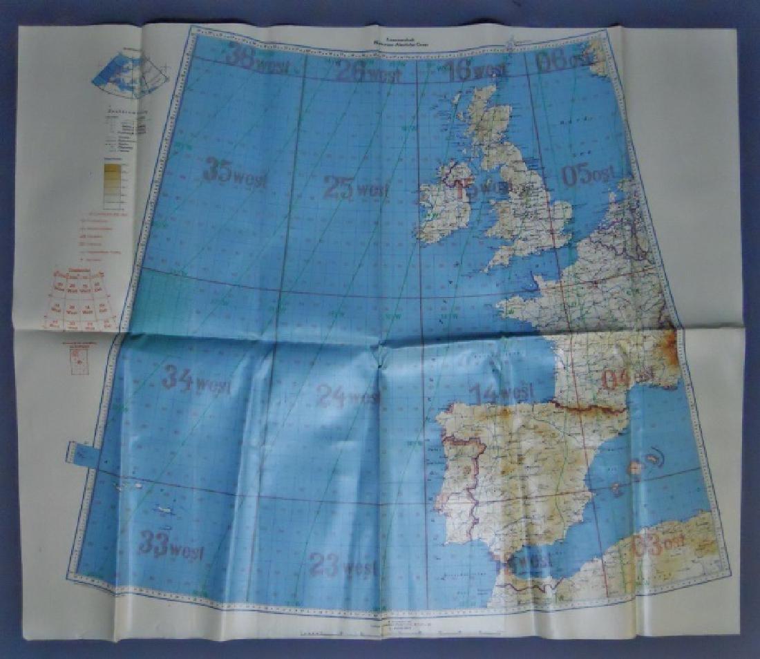 WW2 German Luftwaffe Map of North Atlantic, 1940