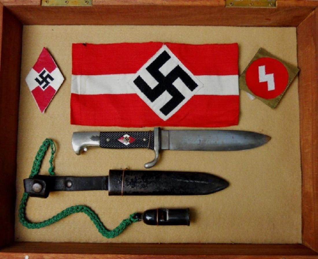 Collection, WW2 German Hitler Jugend Items, (5pc)