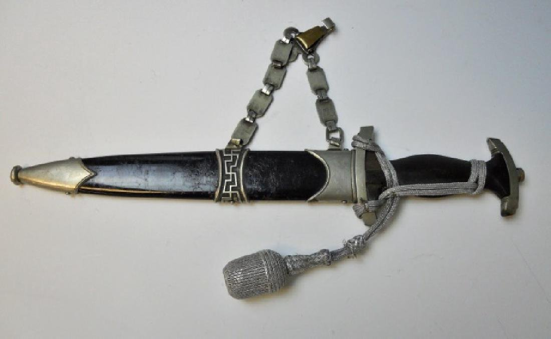 WW2 German M1933 SS Officer's Chained Dagger - 2