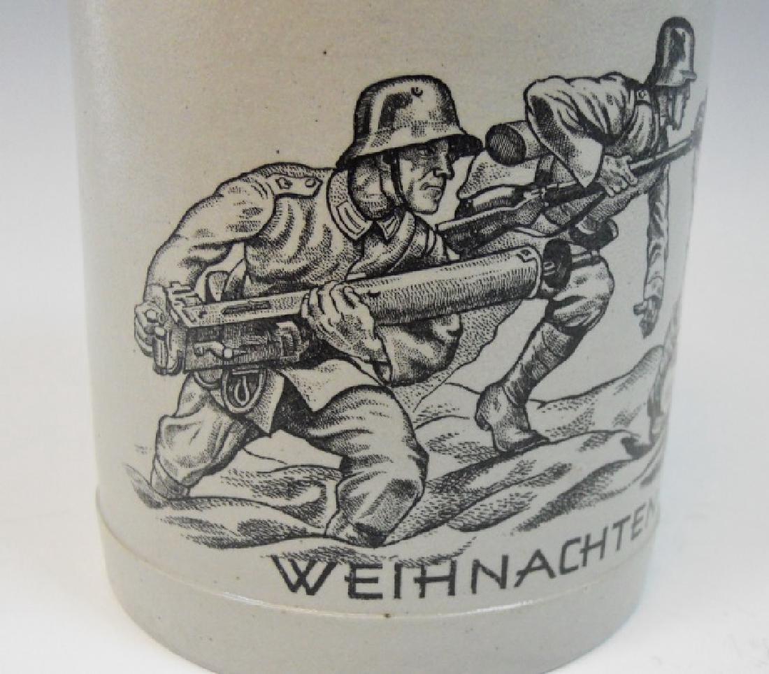 WW2 German Heer Regimental Christmas Stein, 1937 - 2