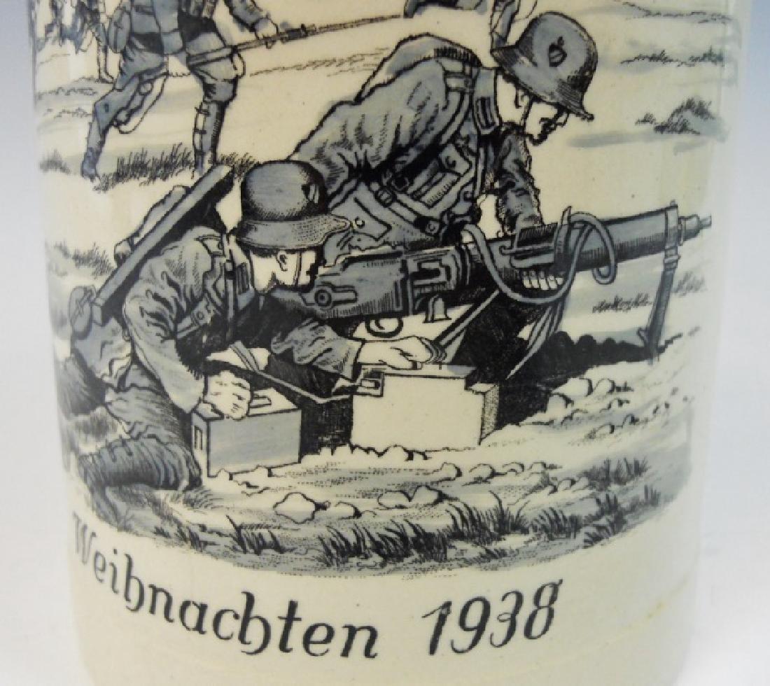 WW2 German Heer Regimental Christmas Stein, 1938 - 3