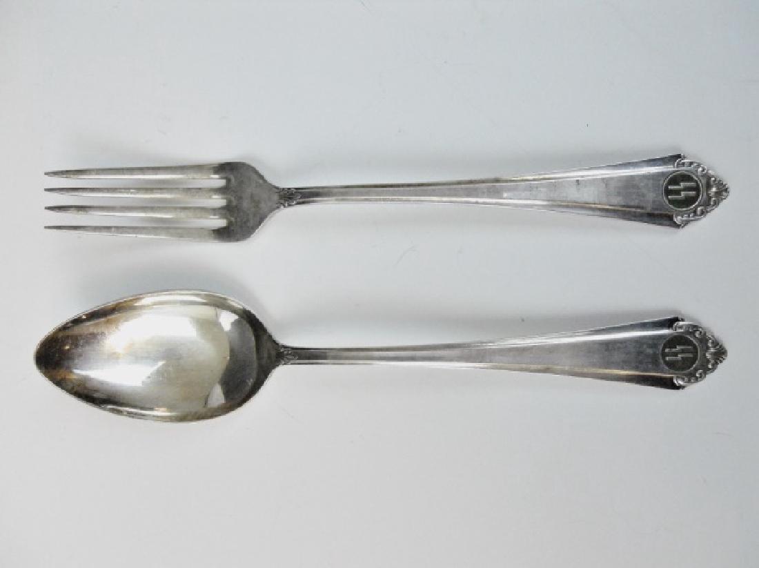 WWI SS Formal Silver Flatware, RECKORD (2pc)