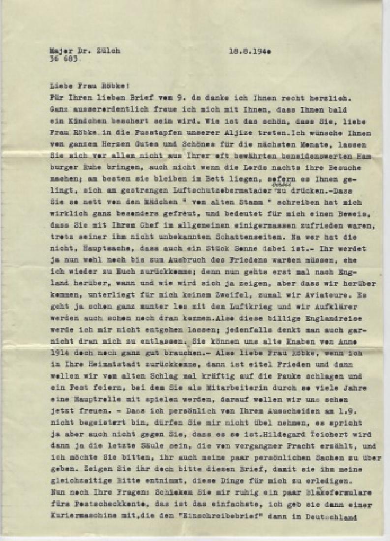 WWII German Ephemera & Photographs, Dr. Karl Zulch - 4