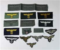 Collection of WW2 German Uniform Insignia,(16pc)