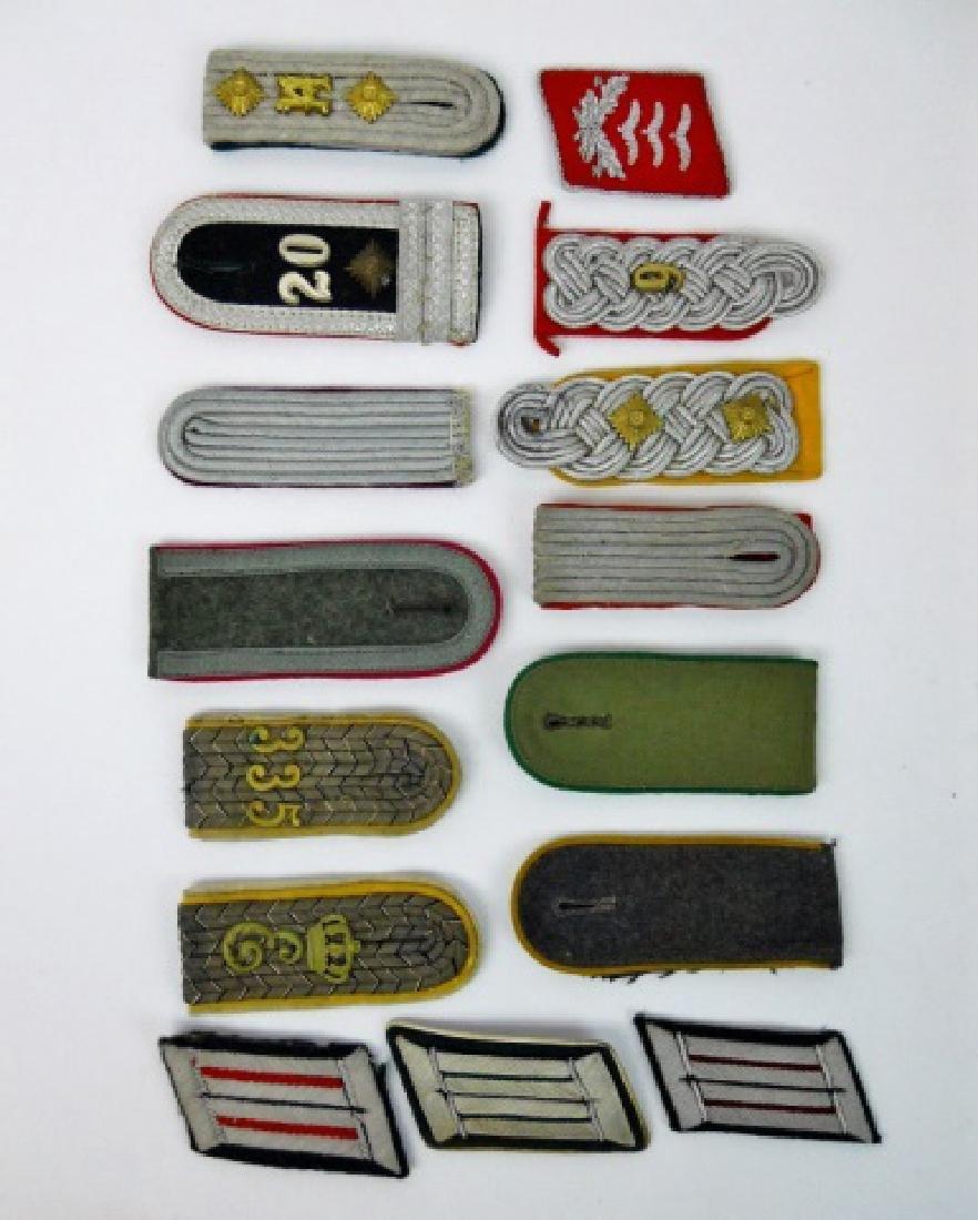 Collection WW1-WW2 German Uniform Insignia, (15pc)
