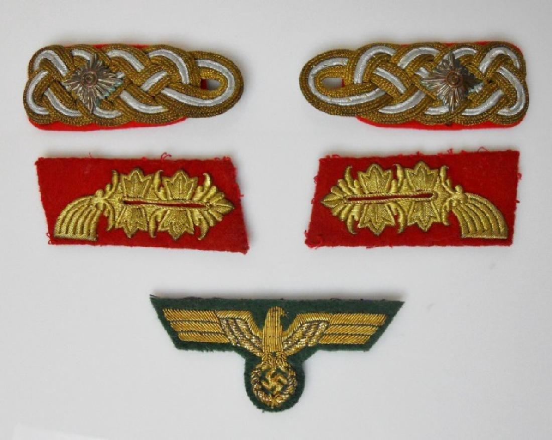 WW2 German General Officer Bullion Insignia, (5pc)