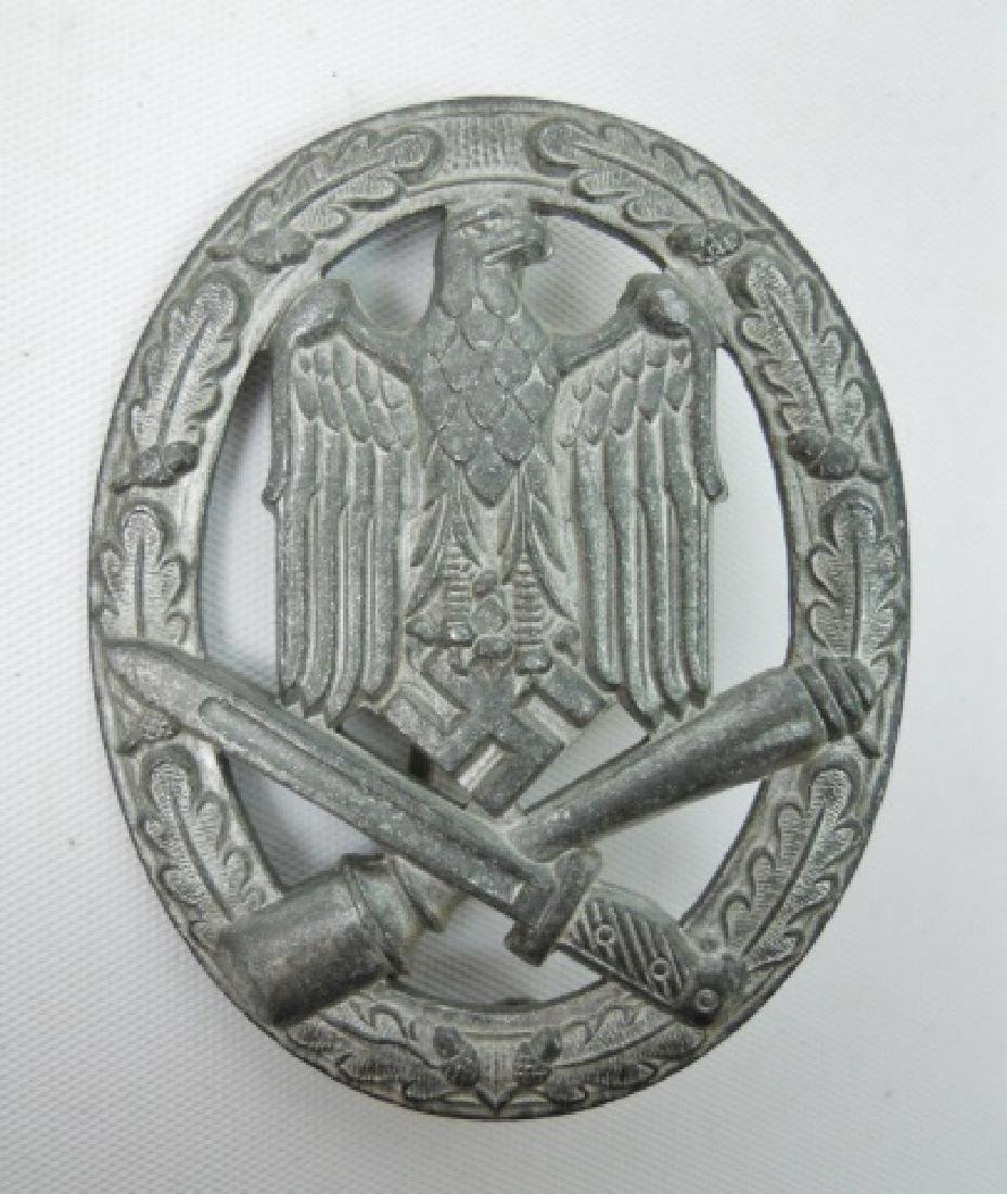 WW2 German Assualt Badge with Document, 15 - 2