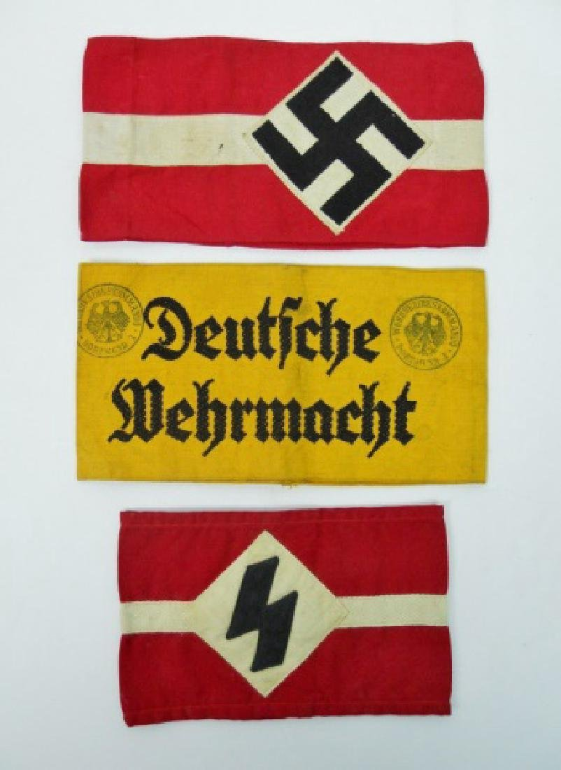 Collection of WW2 German Armbands, HJ, DJ, Heer