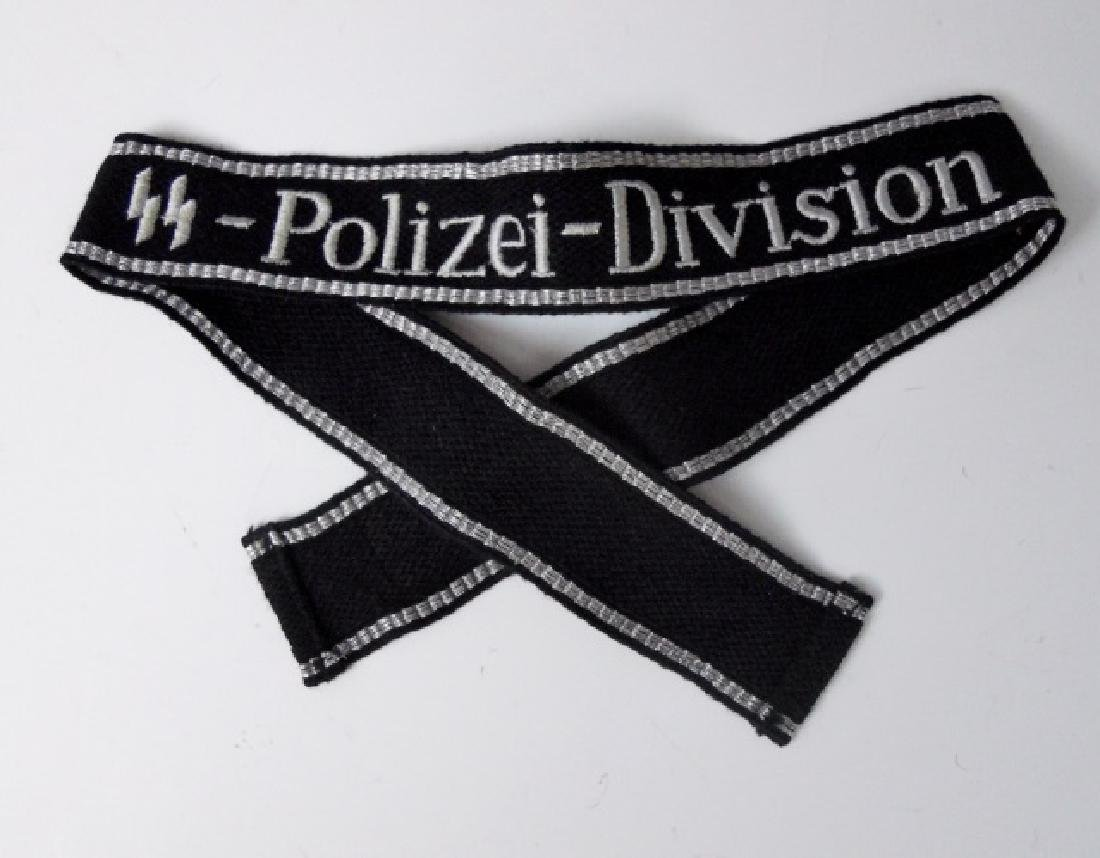 WW2 German SS Polizei Division Cuff Title