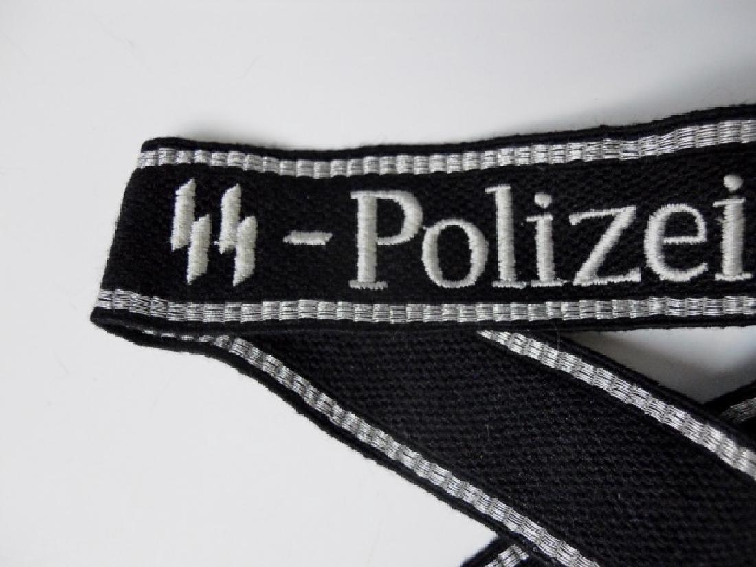 WW2 German SS Polizei Division Cuff Title - 2