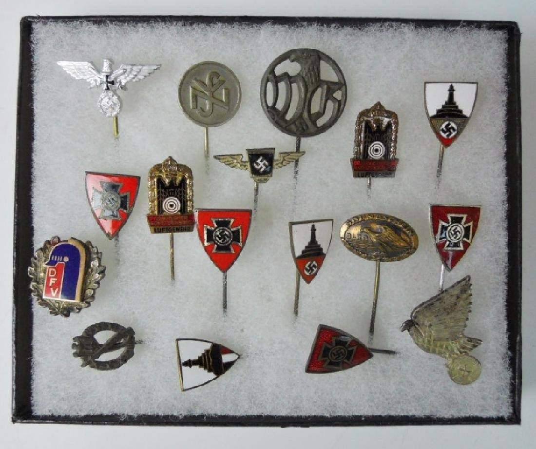 Collection of WW2 German Stickpins, (16pc)