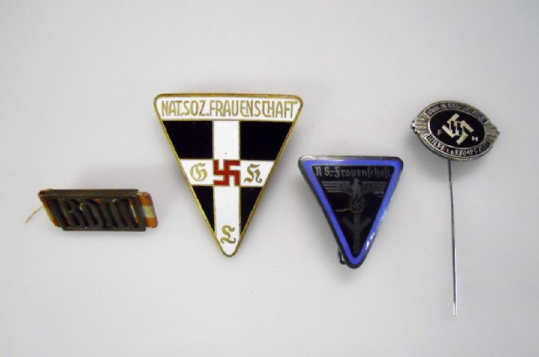 Collection of WW2 German Women's Pins, (4pc)