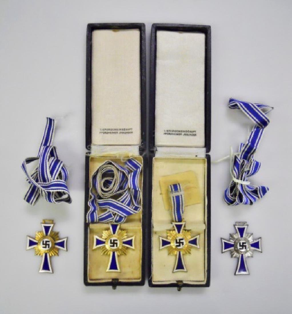 Collection of WW2 German Mother's Crosses, (4pc)