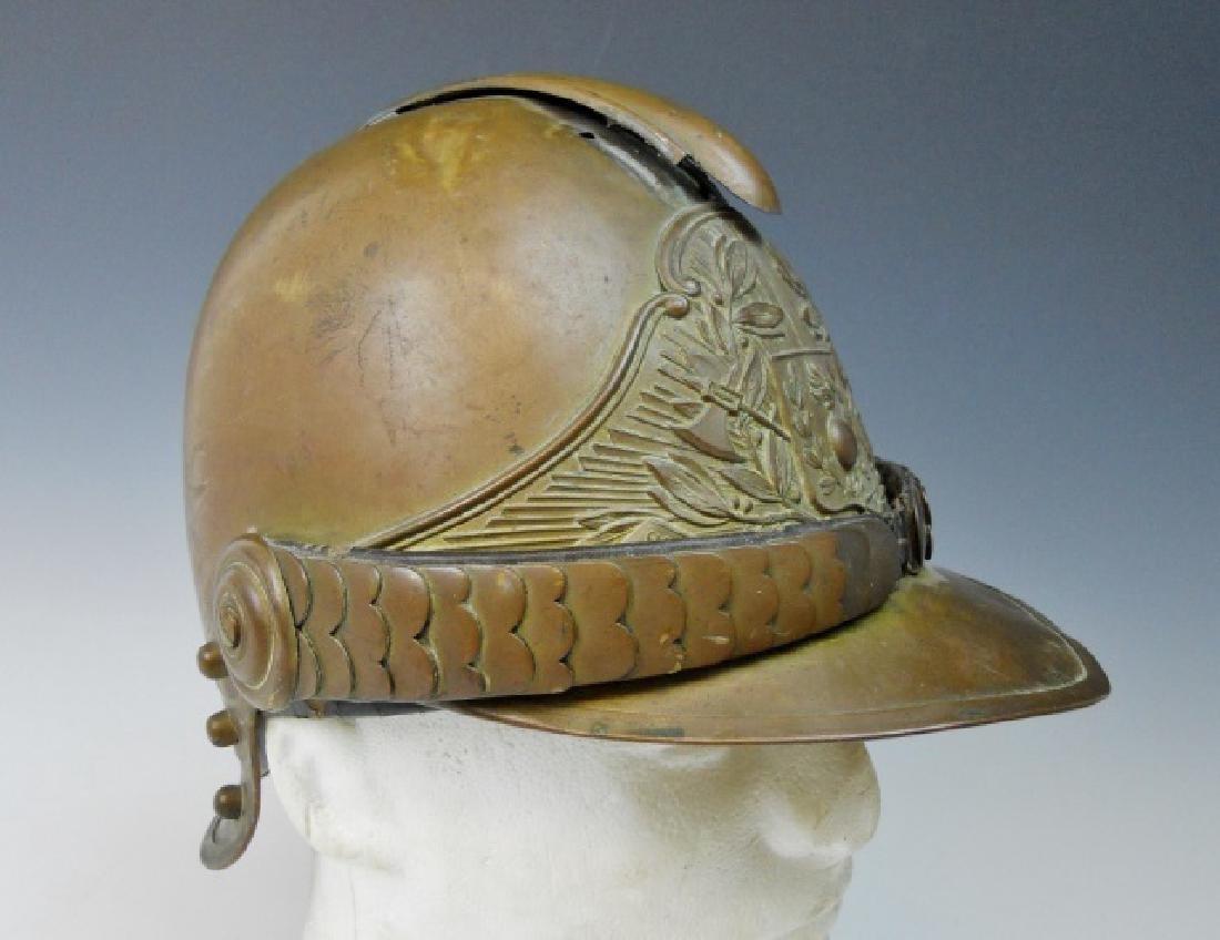 19th C. French Firefighter Helmet - 2