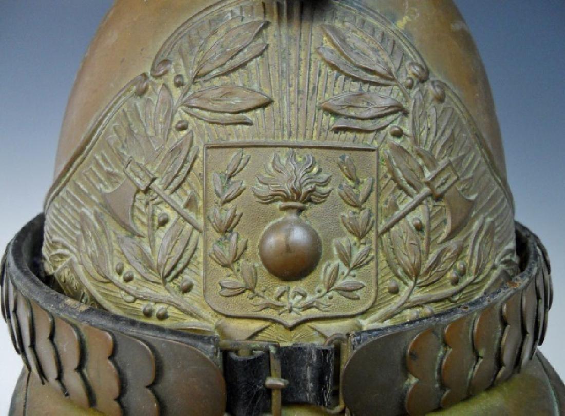 19th C. French Firefighter Helmet - 4