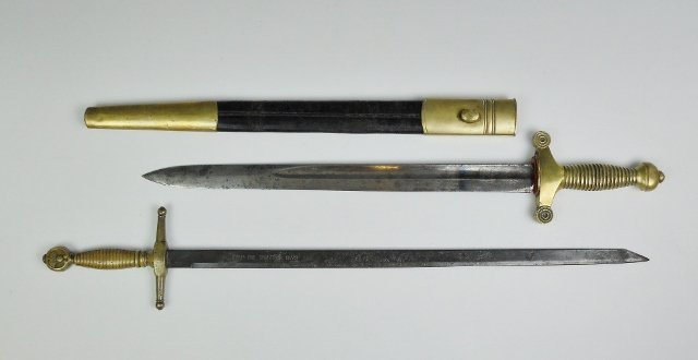 Collection of 19th C. Artillery Sword, (2pc)