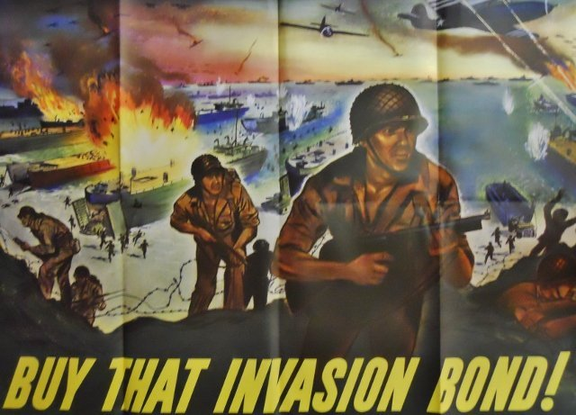 WW2 US Bond Drive Poster, R. MOORE, 1944-O