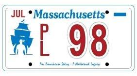PL98 - Massachusetts License Plate