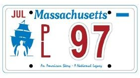 PL97 - Massachusetts License Plate
