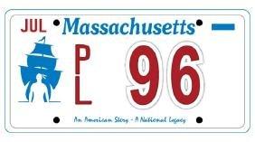 PL96 - Massachusetts License Plate