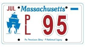 PL95 - Massachusetts License Plate