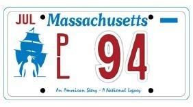 PL94 - Massachusetts License Plate