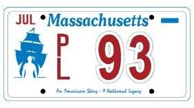 PL93 - Massachusetts License Plate