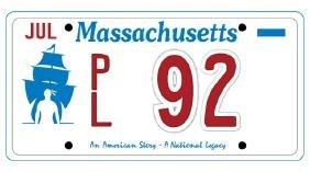 PL92 - Massachusetts License Plate