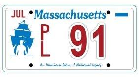 PL91 - Massachusetts License Plate