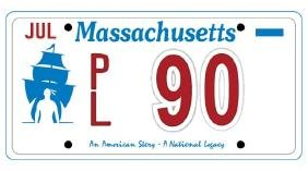 PL90 - Massachusetts License Plate