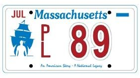 PL89 - Massachusetts License Plate