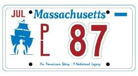PL87 - Massachusetts License Plate
