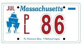PL86 - Massachusetts License Plate